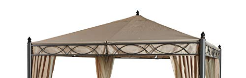 GRASEKAMP Qualität seit 1972 Ersatzdach zu Garten-Pavillon ROM 3x3m Beige Party-Zelt Terrassen-Dach