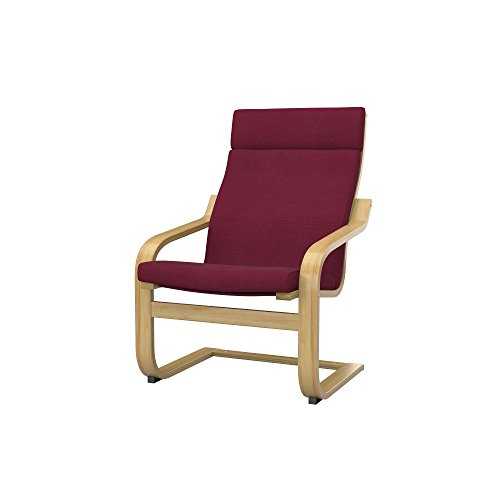 Soferia Bezug fur IKEA POANG Sessel, Stoff Eco Leather Burgund