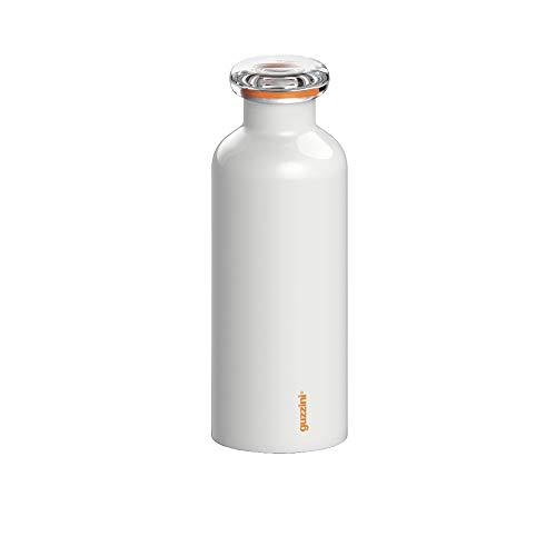 Guzzini Energy On The Go Bottiglia Termica da Viaggio, 7.3 x 21.2 cm, Bianco (White)