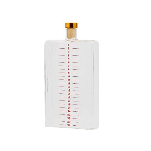 Thumbs Up Feestelijke Advent Drinks Flask-400Ml, Borosilicaat glas, 10 x 19,5 x 3 cm