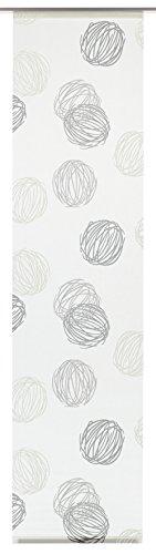 Gardinia Flächenvorhang Stoff waschbar 122 Knäuel weiß/grau 60 x 245 cm
