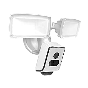 YI IOT 3MP HD Floodlight Camera,Home Security Camera Outdoor, 24/7 Recording, Colorful/Infrared Night Vision, IP66 Waterproof,180°PIR Motion Detection, Works with Alexa