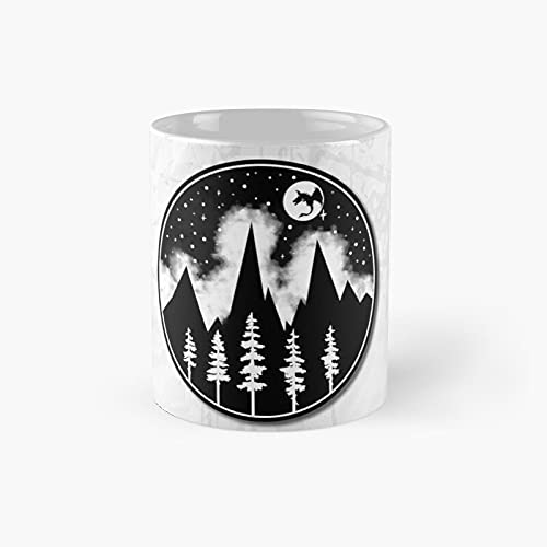 Magic Forest Classic Mug - Gift The Office 11 Ounces Funny White Coffee Mugs-nilinkep