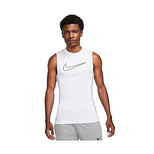 NIKE M NP DF Top SL Tight Vest, Mens, White/Black/Black, 2XL