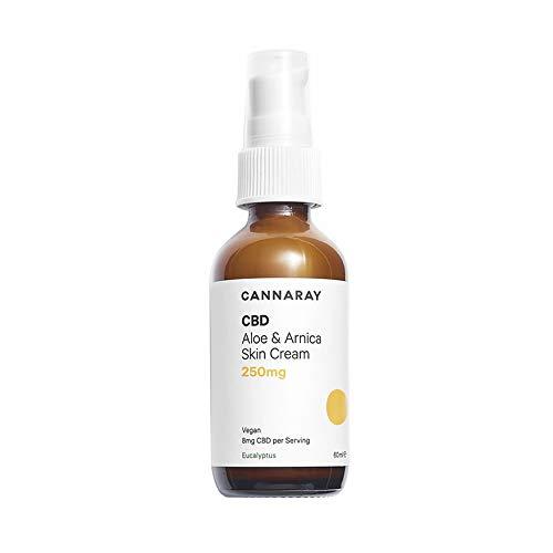 Cannaray CBD Skin Cream, 250mg Cannabidiol | with Soothing Aloe, Arnica, Eucalyptus and Shea Butter