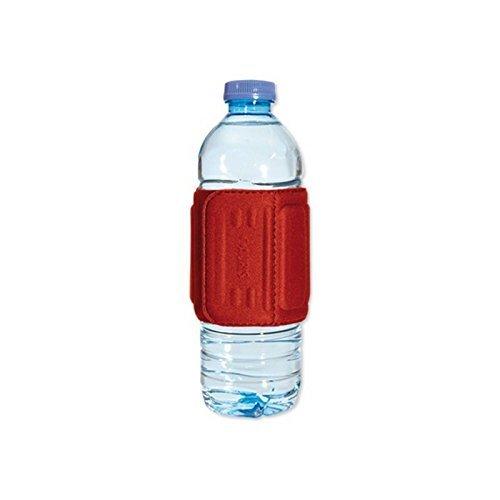 Funda magnética Aquaflux Auris magnétiser Botella para agua y bebidas, color rojo