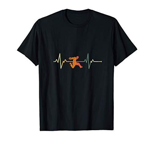 Vintage Parkour Regalo Latido Del Corazn Free Running Camiseta