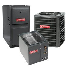80,000 BTU 96% Gas Furnace and 2 ton 13 SEER Air Conditioner GMSS960803BN-GSX130241-CAPF1824B6