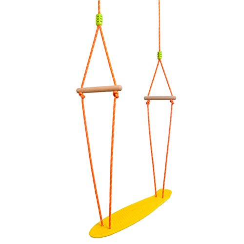 Sports & Outdoor Swings Children's Indoor and Outdoor Plastic Skateboard Swing, Material Safety, Strong Carrying Capacity Swings (Color : Yellow)