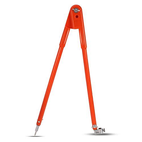 Veraing Präzisions-Bleistift-Kompass für Holzarbeiten Verstellbarer Tischlerer Großem Durchmesser Trenner Markieren und Kritzen von Holzbearbeitung für Zimmermänner(40 * 150cm)
