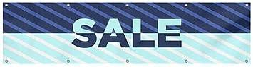 CGSignLab 8x2 Sale Stripes Blue Heavy-Duty Outdoor Vinyl Banner