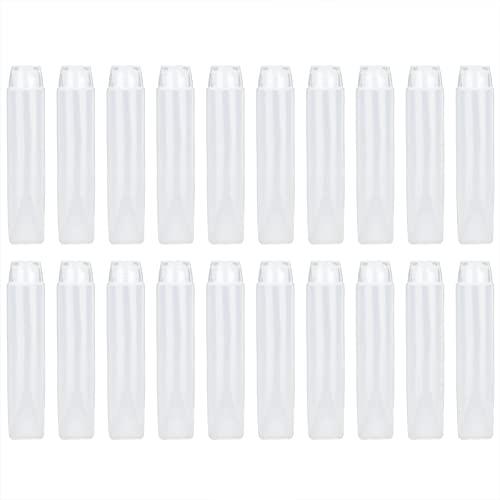 Tubos cosméticos suaves, juego de viaje a prueba de fugas, plástico vacío, plástico exprimible, tubos suaves reutilizables para champú, limpiador, gel de ducha para mujeres, loción corporal(50ml)