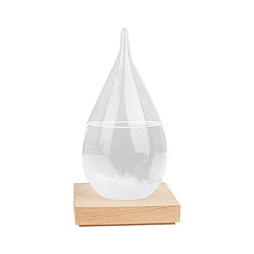 2020 Sturmglas zur Wettervorhersage - Mode kreative Desktop Dekoration Flasche Wasser Glas Barometer Wettervorhersage Wetterstation, Geschenk für Geburtstag Weihnachten AMhomely® (12x6CM)