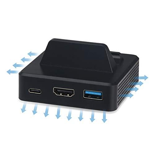 HelloCreate convertidor de vídeo Dock convertidor de carga para Nintendo Switch adaptador HDMI