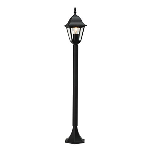 Brilliant Newport Außenstandleuchte 1m Wegeleuchte regengeschützt schwarz, 1x E27 geeignet für Normallampen bis max. 60W