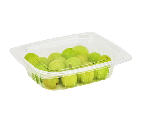Dart C12DCPR, 12-Ounce ClearPac Clear Rectangular Plastic Container With A Flat Lid, Take Out Deli Fruit Food Disposable Containers (50)