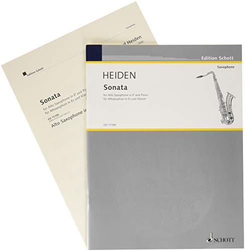 Sonata: For Alto Saxophone & Piano