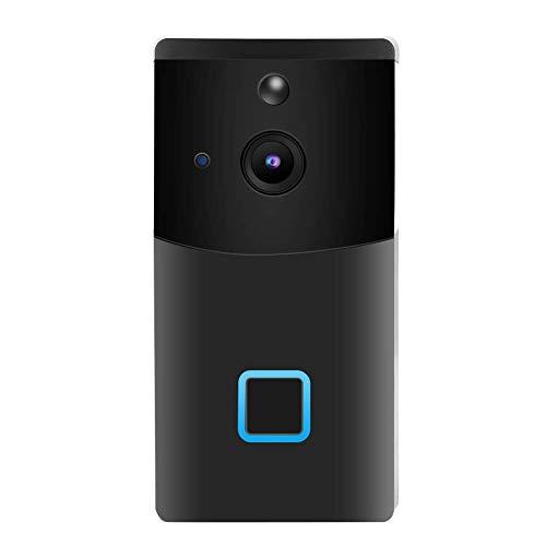 ZCZZ Timbre con Video Inteligente 1080P, Timbre con intercomunicador inalámbrico 2.4G, visualización Nocturna de 6 m, detección de Movimiento PIR, monitoreo Remoto de la aplicación, alertas en ti