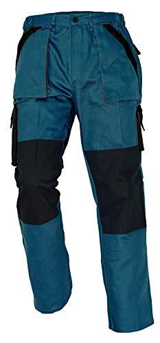 Stenso Max - Pantaloni da Lavoro in Cotone da Uomo - Stile Cargo - Verde 60