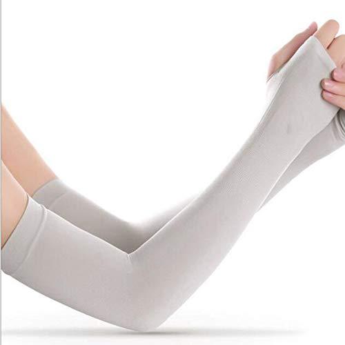 Goodplan Sport-Armstulpen UV-Schutz Radfahren Armschutz Ice Silk Sleeves für Radfahren Wandern Golf Basketball (Weiß) - 2