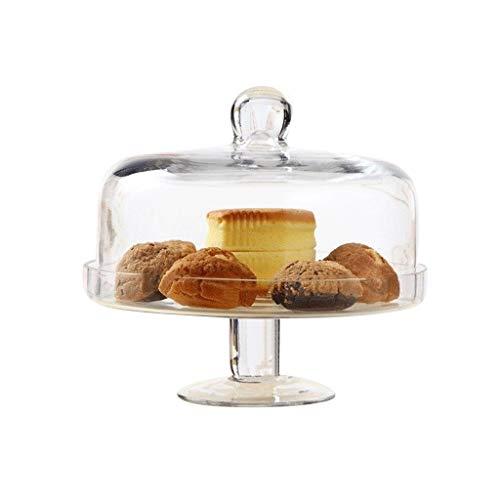 PETAAA desserttafel, glazen salade fruitbord bruiloft decoratie taartplaat thuis donut sushi taartstolp chip & dip server 14 / 23 cm