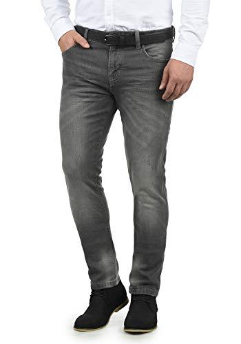 Indicode Aldersgate Herren Jeans-Hose Lange Hose Denim aus hochwertiger Baumwoll-Mischung Destroyed-Optik/Used-Look, Größe:W34/32, Farbe:Light Grey (901)
