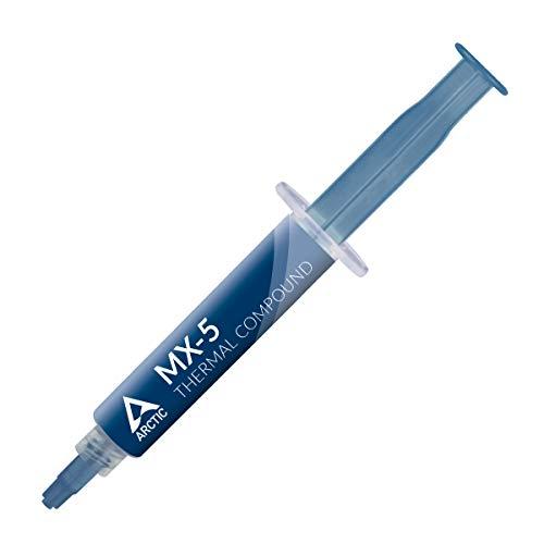 ARCTIC MX-5 (8 g) - Qualitäts-Wärmeleitpaste für alle CPU-Kühler, extrem hohe Wärmeleitfähigkeit, niedriger thermischer Widerstand, Lange Haltbarkeit, metallfrei, Nicht leitend, Nicht kapazitiv