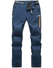 LY4U Męskie spodnie do wędrówek na świeżym powietrzu lekkie oddychające szybkoschnące spodnie wspinaczka trekking codzienne spodnie zapinane na zamek błyskawiczny kieszeń na cały rok