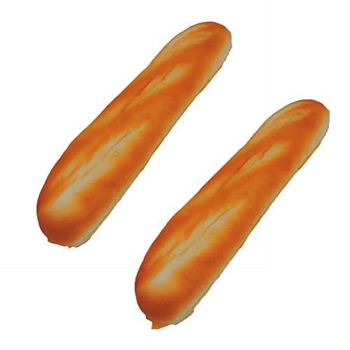 Fake French Baguette Loaf Squeezable Foam Bread 2 PK