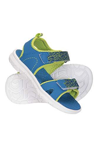 Mountain Warehouse Tide Junior Sandalias - Zapatos de Verano de Neopreno para niños, de Secado rápido, Cierre de Velcro - Ideal para Vacaciones, Viajar, Acampar Azul petróleo 32