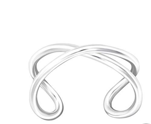 LRP – Pendientes Twisted Ear Cuff de plata de ley 925