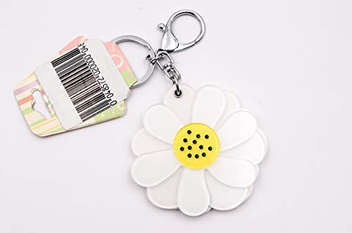Coko Cosmetic Mirror With Key Chain, Flower (Pack of 1, MultiColor)