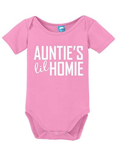 Sod Uniforms Aunties Lil Homie Funny Bodysuit Baby Romper Pink 3-6 Month (6M)