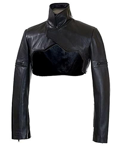 MAI Moto Bolero Shrug, hecho de piel de cordero auténtica para mujeres y niñas.