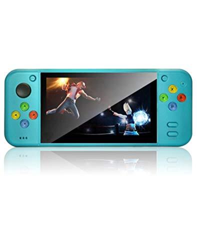 Nueva Pantalla LCD CZT 5.1 Consola de Juegos portátil de Colores fríos múltiples simuladores 5000 Juegos Integrados admiten Salida HDMI/Video/música batería de Litio Recargable (Azul)