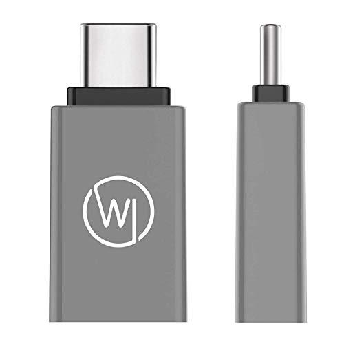 Wicked Chili USB 3.2 Gen1 SuperSpeed USB C auf USB A Adapter - USB-C-Adapter (Premium Alu-Adapter) kompatibel mit Samsung Galaxy S20 Ultra Huawei P40 Plus, OnePlus 8 Pro und Smartphones mit USB C Port