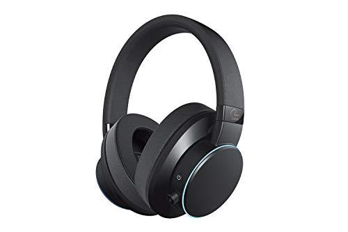Creative Cuffie SXFI AIR Bluetooth e USB con tecnologia di olografia audio Super X-Fi, driver da 50 mm, lettore di schede microSD, controlli touch