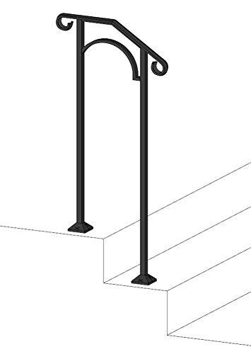 Iron X Handrail Arch #1 (Concrete Steps)