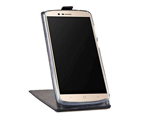 caseroxx Flip Cover für Elephone P8000, Tasche (Flip Cover in schwarz)