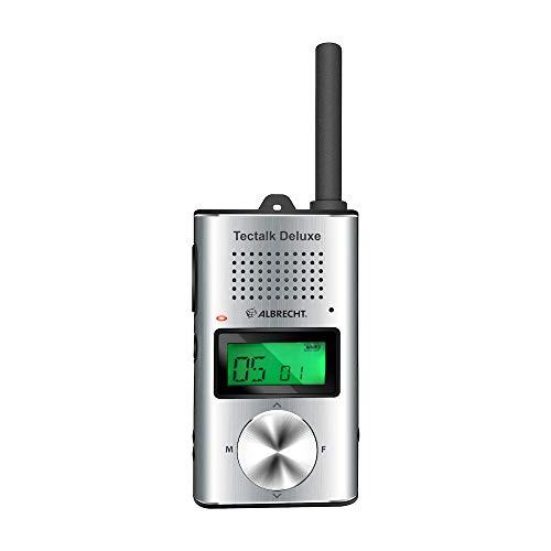 Albrecht Tectalk Deluxe, 29895, PMR446 Funkgerät im schicken Slim-Line Design inkl. Schutztasche und USB-C Ladekabel, Reichweite bis zu 10km