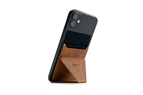 MOFT X 最薄クラス 折りたたみスタンド ホルダー スキミング防止カードケース iPhone、Androidスマートフォン MS007 (ブラウン)