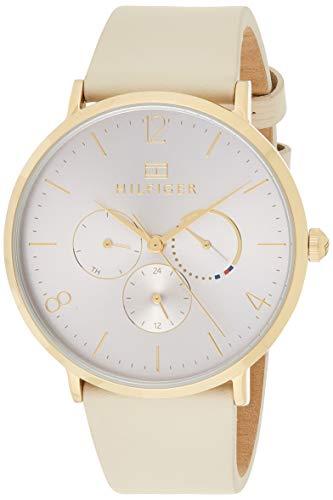 Tommy Hilfiger Damen Multi Zifferblatt Quarz Uhr mit Leder Armband 1782035