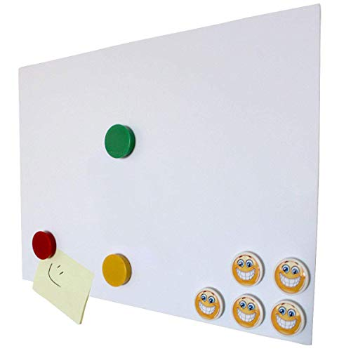 Smagtron pantalla Lámina de hierro autoadhesiva, 1Stk. Homedeco-24–Din A3, revestimiento antiadherente lado blanco, Flexible Para Imanes. neodimio