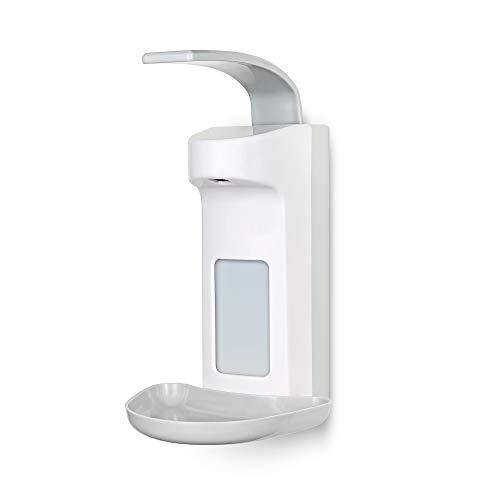 TALPA Seifenspender 500 ml aus sterilem Kunststoff inkl. Tropfschale Hygienischer Eurospender mit Wandmontur – Medizinischer Desinfektionsmittelspender für Praxis und Zuhause