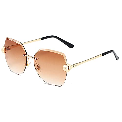 Gosunfly Tinta sin espejo gafas de sol de corte de cristal para...