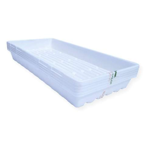 Bootstrap Farmer 1020 Trays White Extra Strength - 30 Pack No Hole - Seed Starter Flats for Fodder, Microgreen, Seedling Propagation Growing