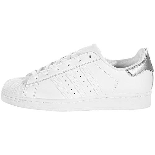 adidas Originals Superstar, Scarpe da Ginnastica, Bianco Nucleo Bianco Nero, 39 1/3 EU