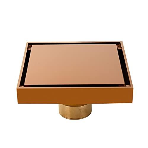 Extensor de Grifo para niños Accesorios de baño Latón Oro/Oro de Rosa/Acabado de Plata Ducha Ducha Duración del Suelo 120x120mm Drenaje de residuos Cuadrados (Color : A12cm)