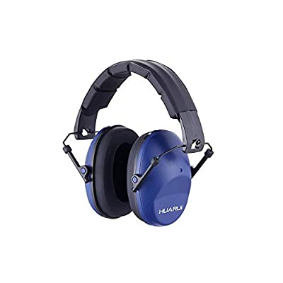 Noise Cancelling Ear Muffs HUARUI, Adjustable Shooting Ear Muffs,Shooters Ear Protection Safety Ear Muffs, Lightweight Ear Muffs Noise Protection, Ear Muffs for Shooting Hunting (Blue)…