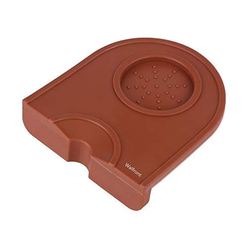Pressatura Mat, Nero Multi-Funzione Ispessimento Antiscivolo Resistenza caffè Espresso Tappetino Antimanomissione Silicone Pad(Marrone)